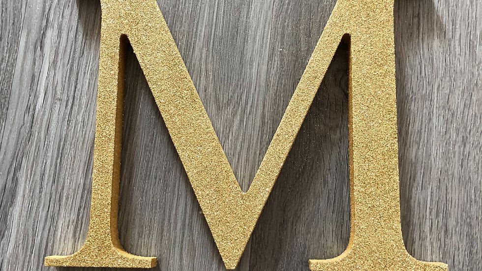 Freestanding Glittered Wooden Letter