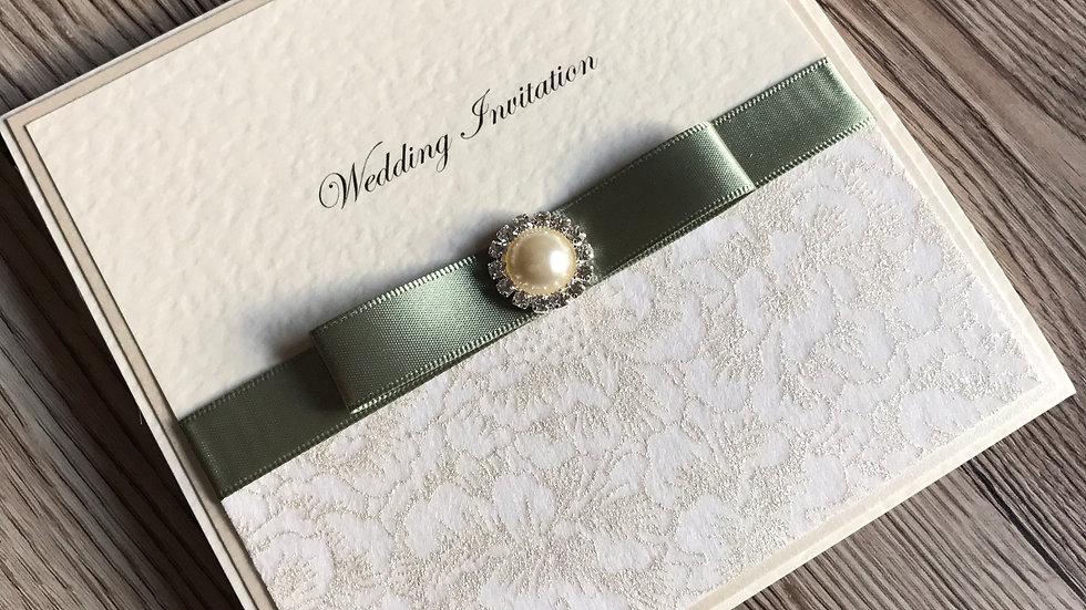 Luxury pocketfold Wedding invitation sample
