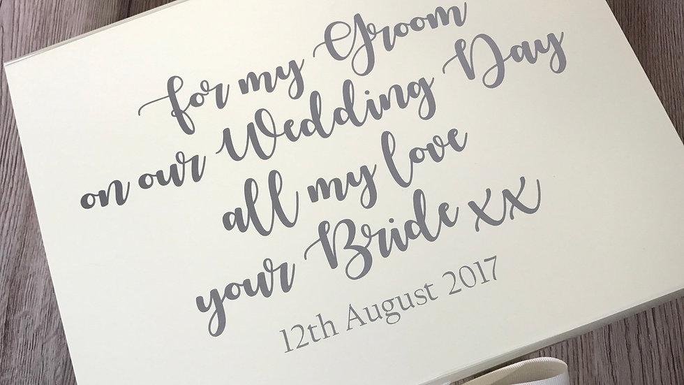Groom Box Wedding Day Gift