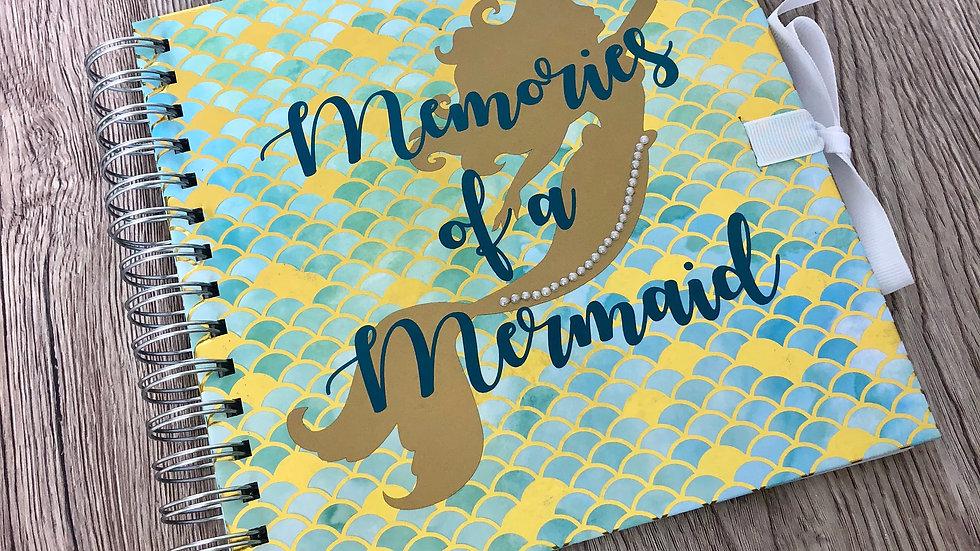 Mermaid Memories square scrapbook