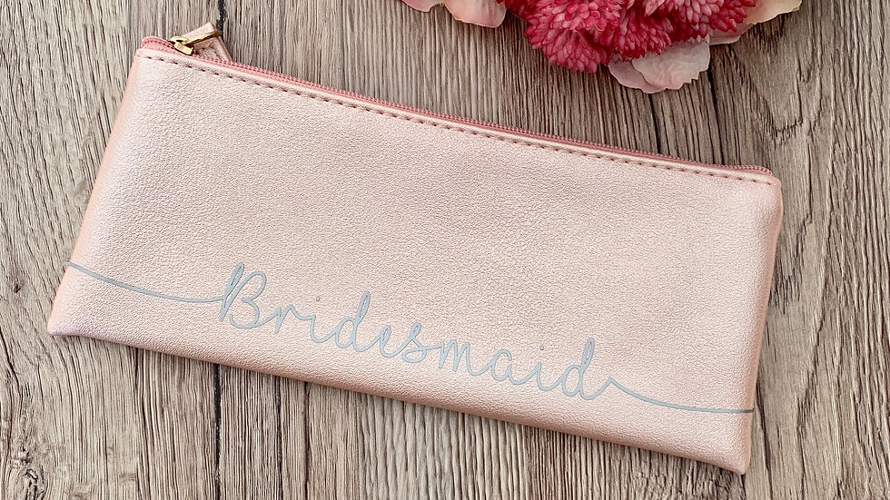 Personalised Bridal Party make up purse