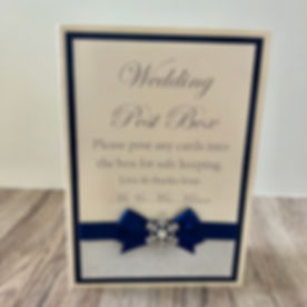 Wedding Post Box Table Top Sign