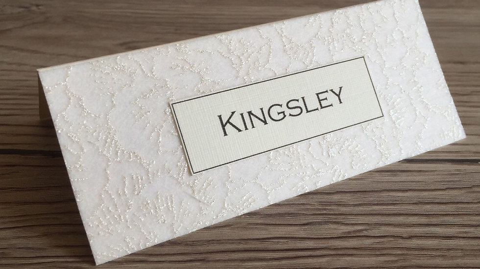 Lace Effect Wedding Place Name Cards