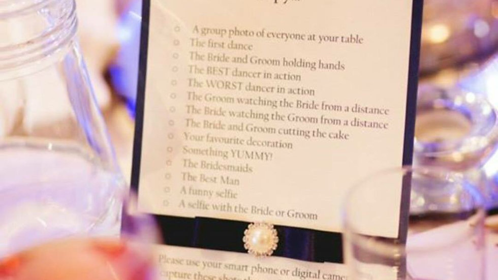I Spy Wedding Game Card