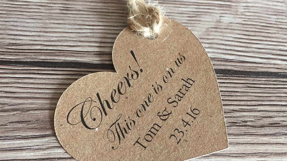 Heart Shaped Wedding Favour tags