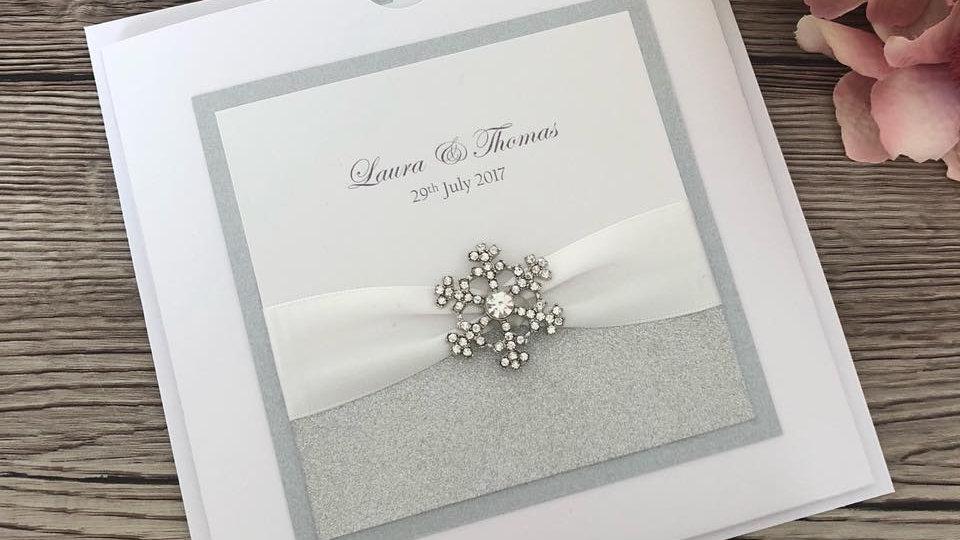Victoria Snowflake Invitation