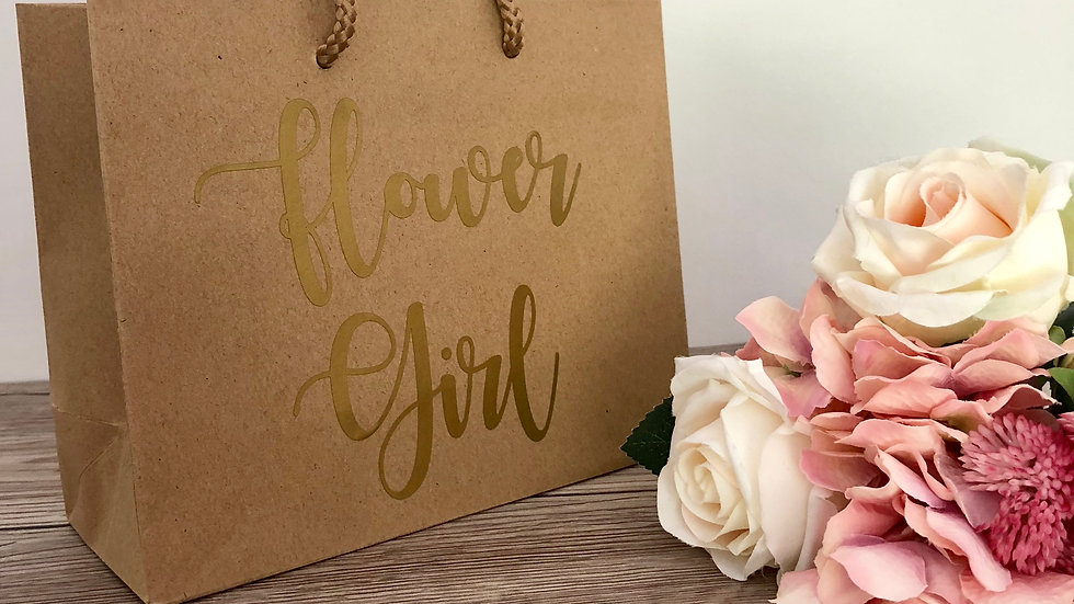 Kraft Wedding Party Boutique Style Gift Bags