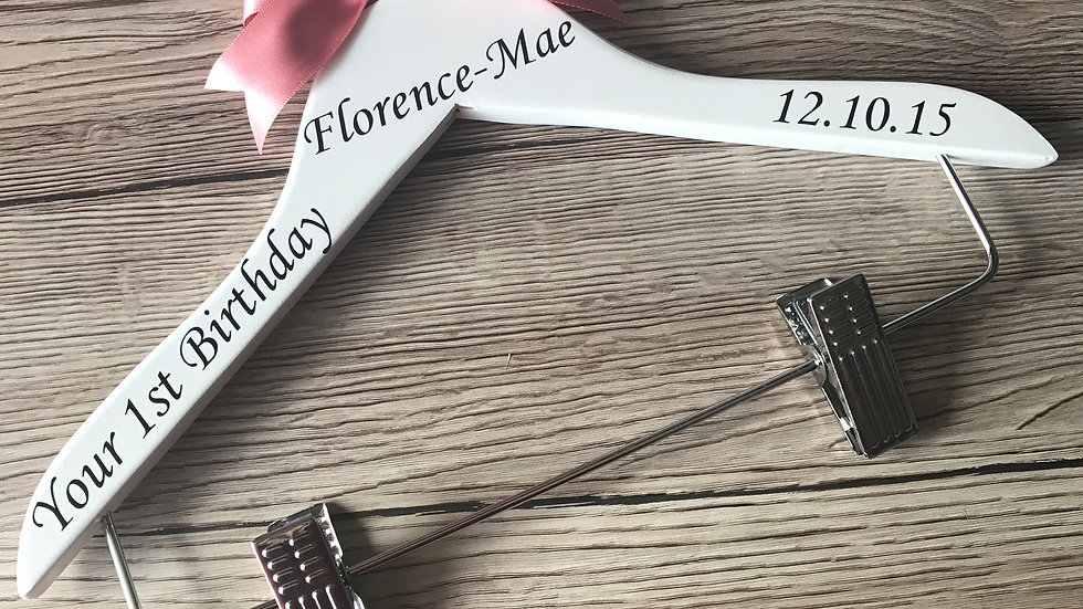 Personalised Birthday Outfit Tutu Hanger
