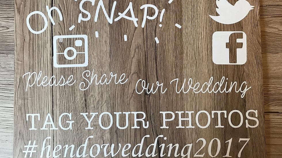 Share our Photos A3 personalised wedding board