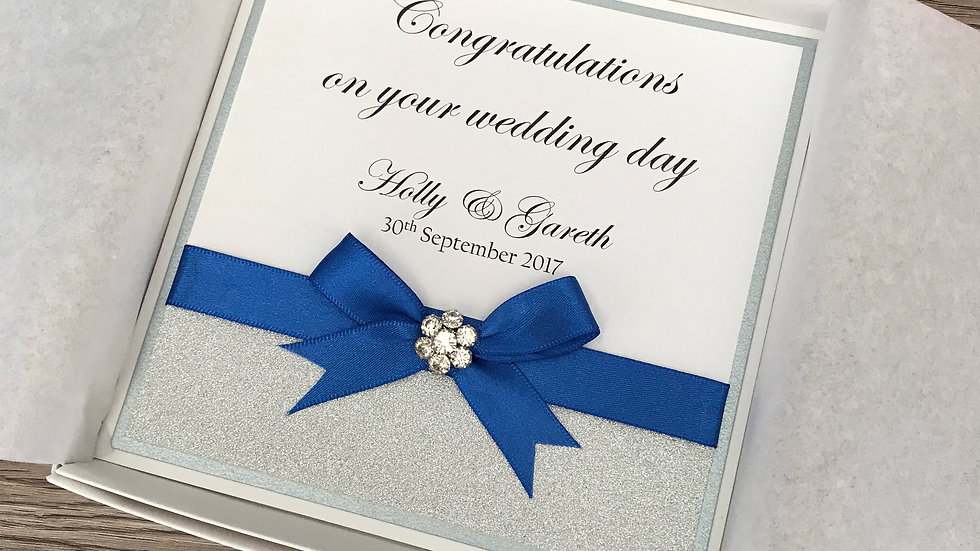 Personalised Congratulations on Your Wedding Day Card