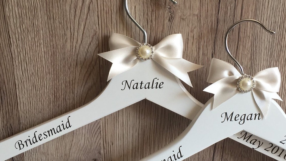 Personalised Bridal Party Hanger