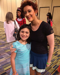 What an exciting day for Hannah!!! She was in Orlando with family, and got to see her dance teacher