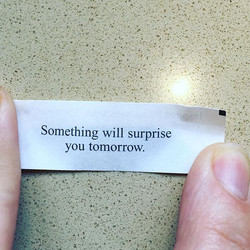 Look at what Miss Catlyn received in her fortune cookie today!!! She touches down in Orlando soon, r