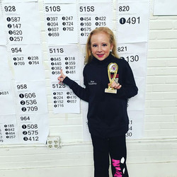 Our wee Ava in 3rd place U11 PC set!!!!