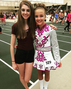 Meghan 2nd in reel!!! Awesome job, and with her BFF Ciara here to support