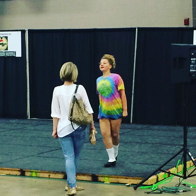Kenzie getting some extra treble jig practice in with Miss Sarah before her competition..