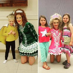 Six years ago (left) and yesterday (right)...once upon a time Abby was a beginner, WOWed by the danc