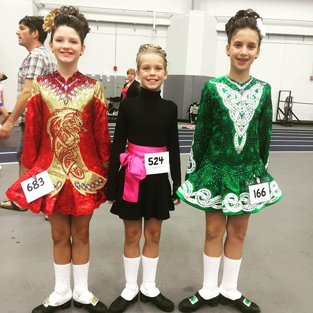 The three musketeers are at it again!!!! Great work at the feis!!