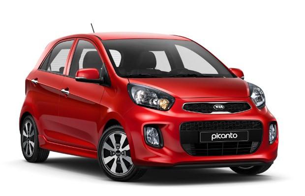 Carro vermelho Kia Picanto