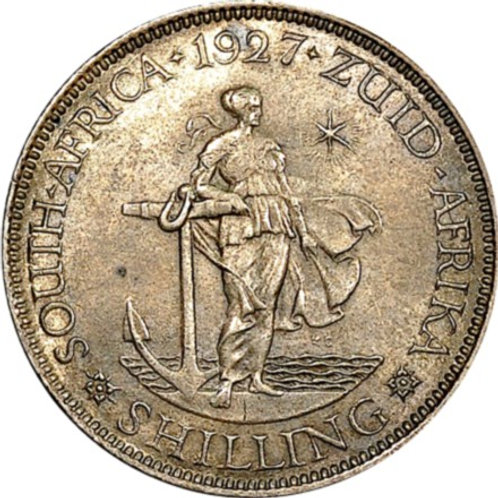 S. Africa: 1927 KGV Shilling NGC Certified MS62