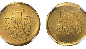 Numismatic Articles by Pierre H. Nortje: How Many Gold Veld Ponde of 1902 were actually minted?
