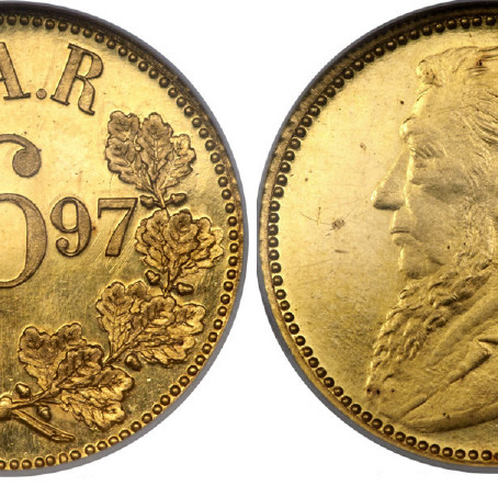 """Numismatic Articles by Pierre H. Nortje: The so-called """"Big Five"""" Coins of the ZAR"""