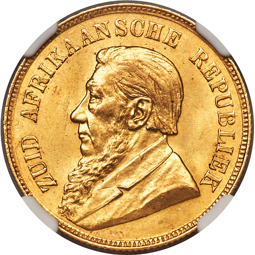 S. Africa: 1898 ZAR Gold Pond NGC Certified MS64