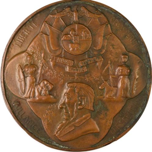 "S. Africa: 1900 ""Boer Prisoners of War on the Island of St. Helena"" Medallion"