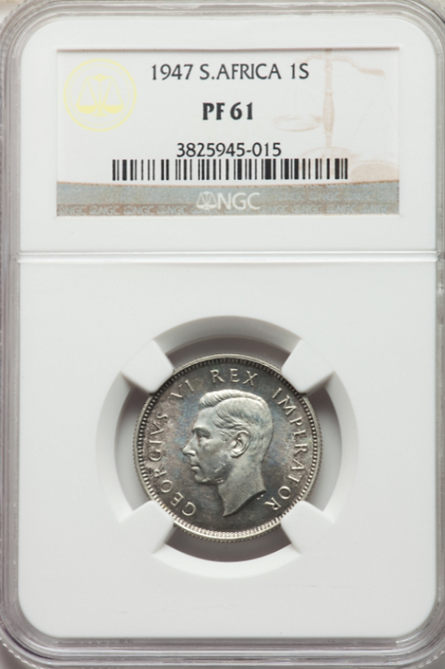 S. Africa: 1947 KGVI Shilling NGC Certified PF61