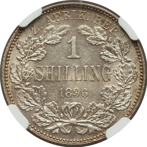 S. Africa: 1896 ZAR 1 Shilling NGC Certified MS61