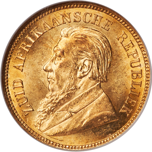 S. Africa: 1892 ZAR 1/2 Pond D/S NGC Certified MS63+
