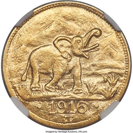 Numismatic Legends: The 1916-T GEA Gold 15 Rupien (Tabora Pound)