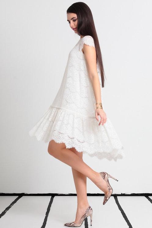 Платье белое 2ка решелье