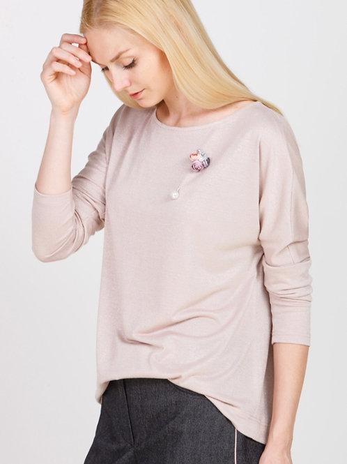 Блузка розовая блеск