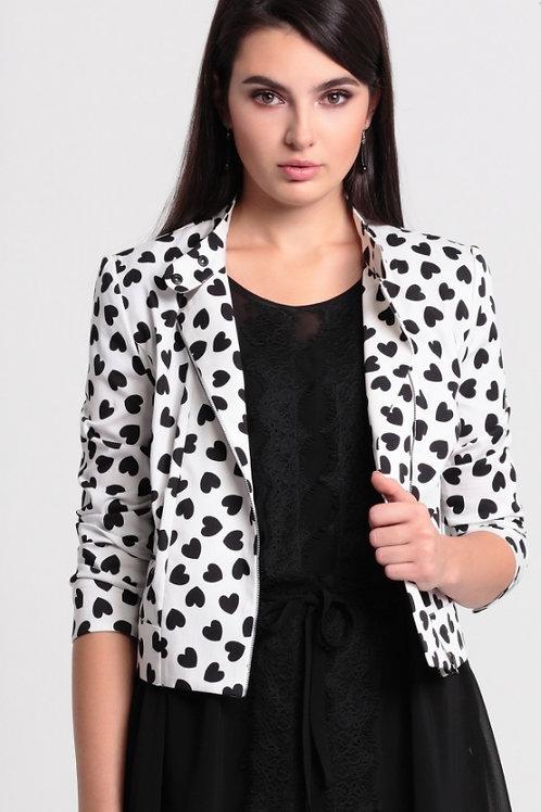 Жакет-куртка сердечки