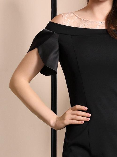 Платье черное плечи