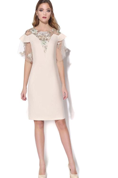 Платье сетка аппликация