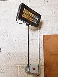 2kw radiant infra-red heater with timer desk