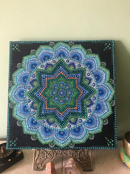 Mandala Personalizada (Pontilhismo) - Em Tela