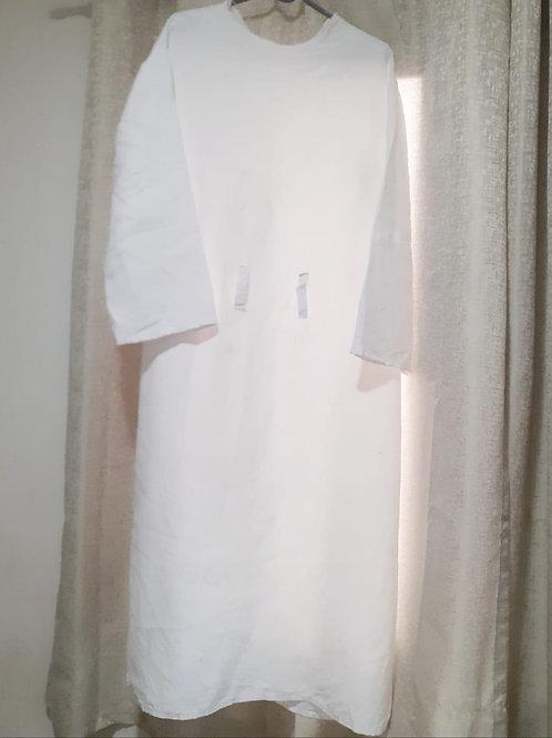 Túnica Sacerdotal - Linho Branco Puro