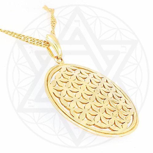 Pingente 231 Portões (Flor da Vida) - Banhado em Ouro