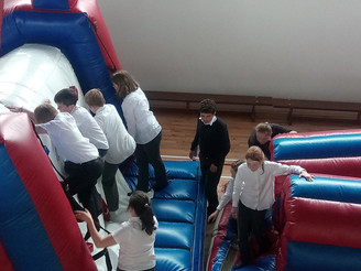 Bouncy castle fun - thanks Liz! ;-)