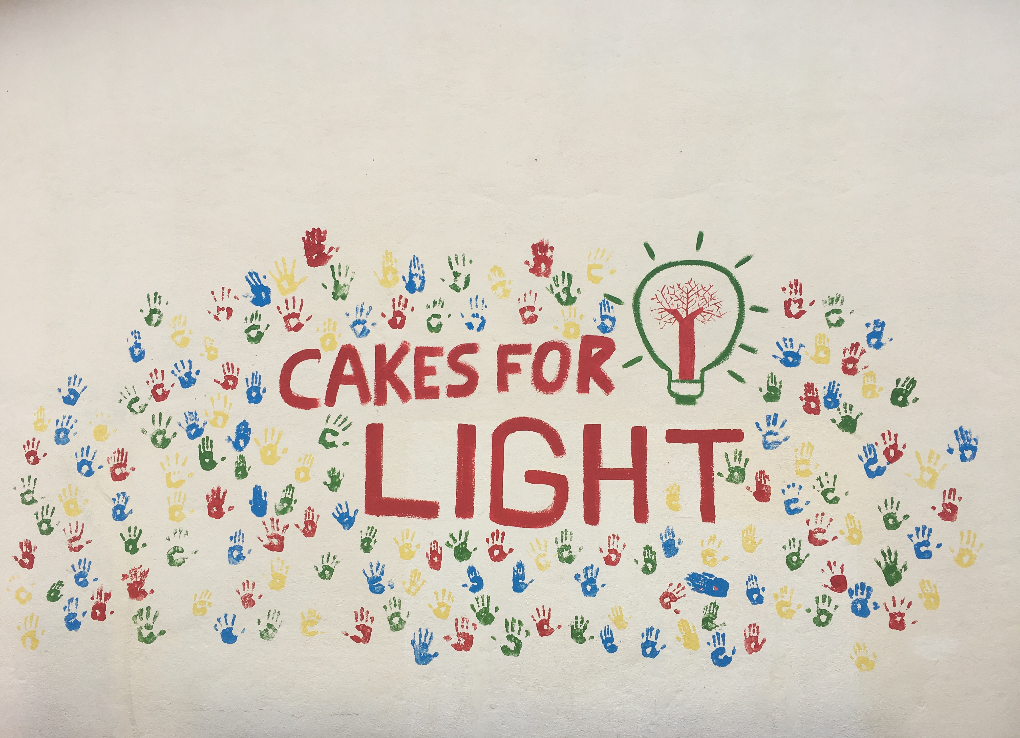 Le mur Cakes for Light (en 2017)