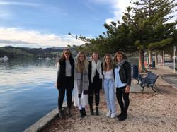 The girls arrive in Akaroa