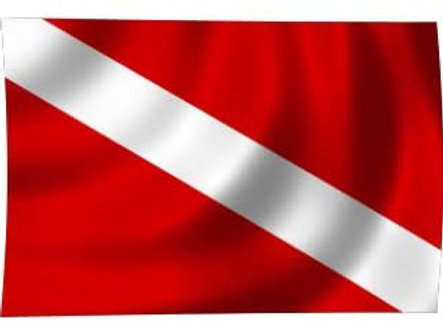 Red and White Flag Cloth