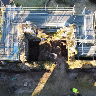 Archaeology dig by drone