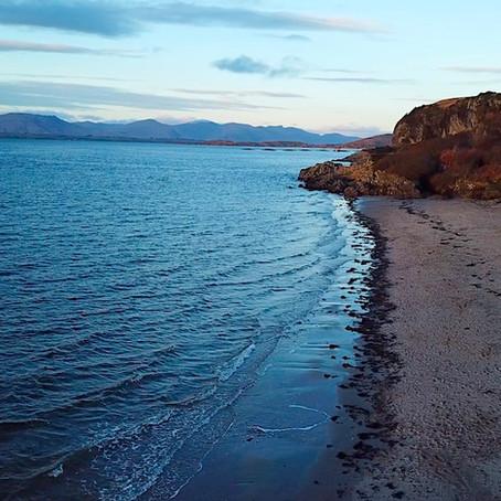 Ganavan Beach is Oban's white sand paradise