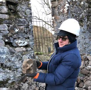 Archaeologist Dr Clare Ellis