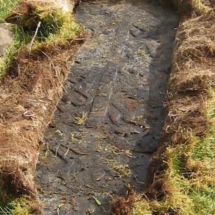 Medieval grave slab by Dr Bob Irving