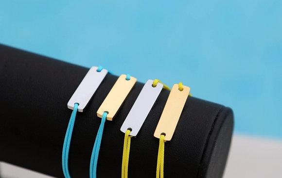 Bracelet gourmette fluo